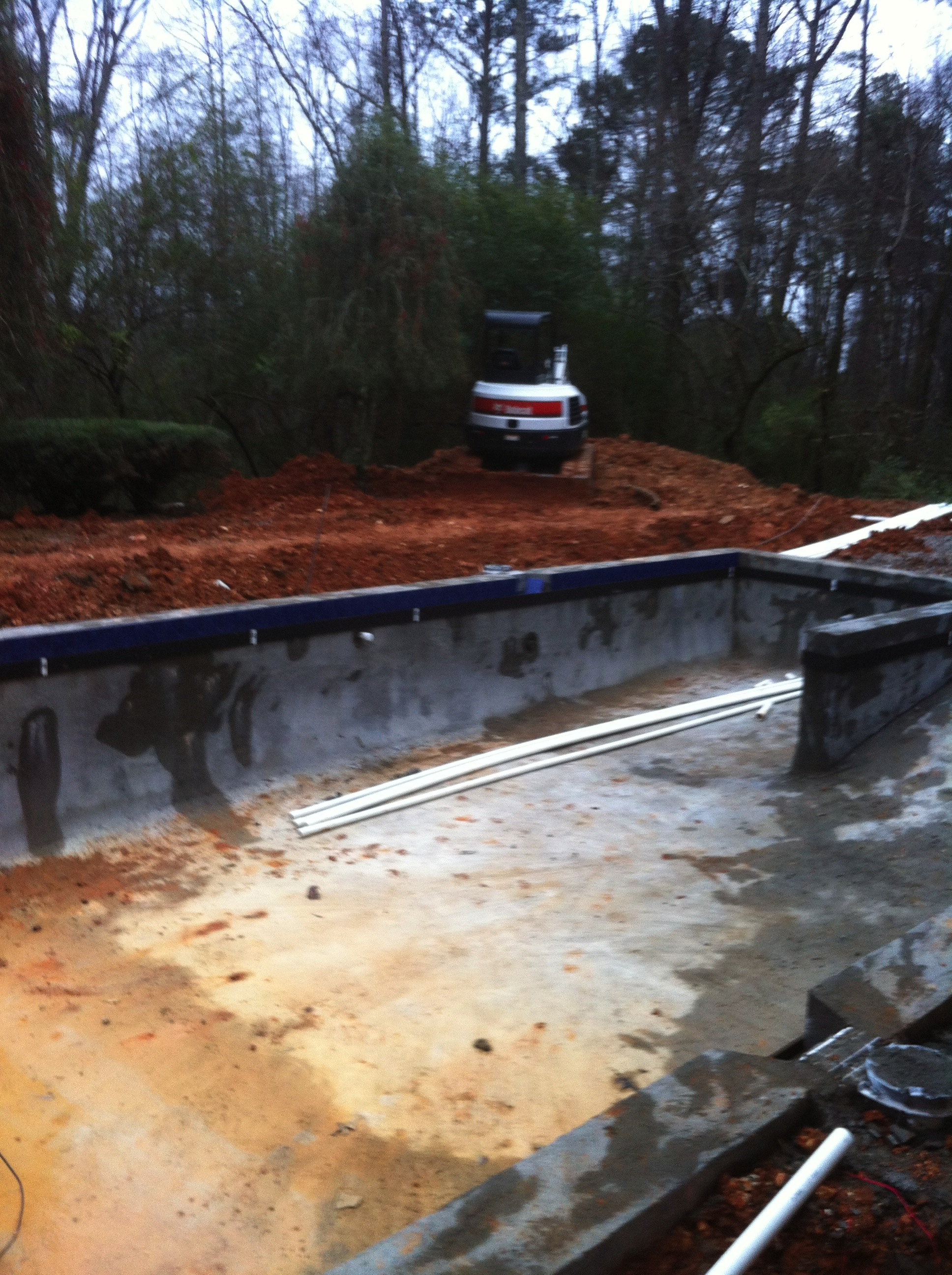 Inground swimming pool construction update swimming pool for In ground pool contractors